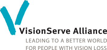 VisionServe Alliance logo: Leading to a better world for people with vision loss.