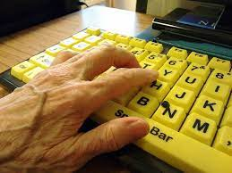 yellow computer keyboard